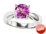 Original Star K™ 7mm Round Created Pink Sapphire Engagement Ring style: 26891