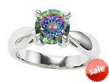 Original Star K™ 7mm Round Rainbow Mystic Topaz Engagement Ring