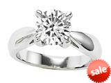 Original Star K™ 7mm Round Genuine White Topaz Engagement Ring style: 26903