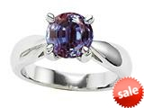 Original Star K™ Round 7mm Simulated Alexandrite Engagement Ring
