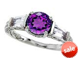 Original Star K™ Round 7mm Genuine Amethyst Engagement Ring