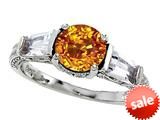 Original Star K™ Round 7mm Genuine Citrine Engagement Ring