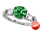 Original Star K™ Round 7mm Simulated Emerald Engagement Ring style: 26987