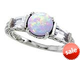Original Star K™ Round 7mm Simulated Opal Engagement Ring style: 26988