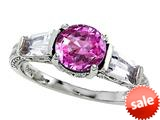 Original Star K™ Round 7mm Created Pink Sapphire Ring style: 26989