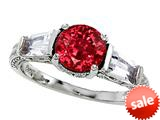 Original Star K™ 925 Created Ruby Engagement Ring style: 26993