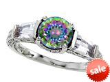 Original Star K™ Round 7mm Rainbow Mystic Topaz Engagement Ring