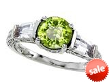 Original Star K™ Round 7mm Genuine Peridot Engagement Ring style: 26996