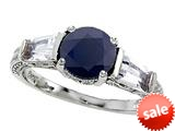 Original Star K™ Round 7mm Black Sapphire Engagement Ring style: 26998