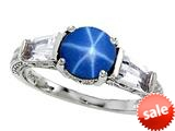Original Star K™ Round 7mm Created Star Sapphire Engagement Ring