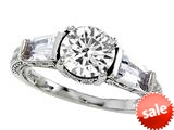Original Star K™ White Topaz Round Engagement Ring