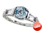 Original Star K™ Round 7mm Simulated Aquamarine Engagement Ring