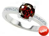 Original Star K™ Round 7mm Genuine Garnet Engagement Ring