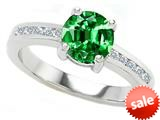 Original Star K™ Round 7mm Simulated Emerald Engagement Ring