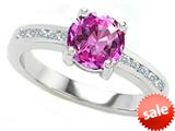 Original Star K™ Round 7mm Created Pink Sapphire Engagement Ring style: 27042