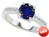Original Star K™ Round 7mm Created Sapphire Engagement Ring style: 27045