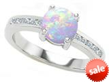 Original Star K™ Round 7mm Simulated Opal Engagement Ring style: 27054