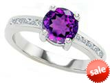 Original Star K™ Round 7mm Simulated Amethyst Engagement Ring style: 27055