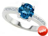 Original Star K™ Round 7mm Genuine Blue Topaz Engagement Ring style: 27058