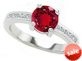 Original Star K™ Round 7mm Created Ruby Engagement Ring
