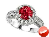 Original Star K™ 7mm Round Created Ruby Engagement Ring style: 27133