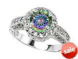 Original Star K™ 7mm Round Rainbow Mystic Topaz Engagement Ring style: 27136
