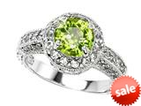 Original Star K™ Genuine 7mm Round Peridot Engagement Ring style: 27137