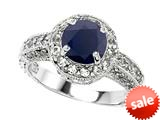 Original Star K™ 7mm Round Black Sapphire Engagement Ring