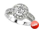 Original Star K™ 7mm Round White Topaz Engagement Ring