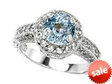 Original Star K™ 7mm Round Simulated Aquamarine Engagement Ring style: 27142