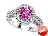 Original Star K™ 7mm Round Created Pink Sapphire Engagement Ring style: 27143