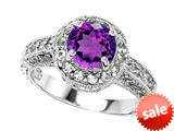Original Star K™ Genuine 7mm Round Amethyst Engagement Ring