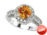 Original Star K™ Genuine 7mm Round Citrine Engagement Ring style: 27150