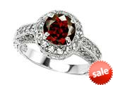 Original Star K™ Genuine 7mm Round Garnet Engagement Ring