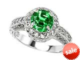 Original Star K™ 7mm Round Simulated Emerald Engagement Ring style: 27154