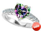 Original Star K™ 8mm Heart Shape Rainbow Mystic Topaz Engagement Ring style: 27158
