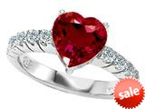 Original Star K™ 8mm Heart Shape Created Ruby Engagement Ring style: 27177