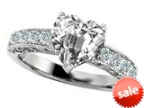 Original Star K™ 8mm Heart Shape White Topaz Engagement Ring style: 27182