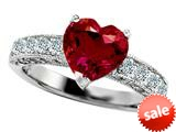 Original Star K™ 8mm Heart Shape Created Ruby Engagement Ring style: 27197