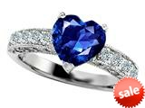 Original Star K™ 8mm Heart Shape Created Sapphire Engagement Ring style: 27198