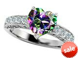 Original Star K™ 8mm Heart Shape Mystic Topaz Engagement Ring style: 27199