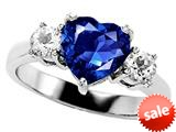 Original Star K™ 8mm Heart Shape Created Sapphire Engagement Ring style: 27202