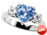 Original Star K™ 8mm Heart Shape Simulated Aquamarine Engagement Ring