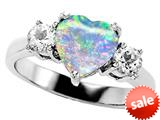 Original Star K™ 8mm Heart Shape Created Opal Engagement Ring