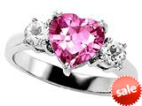 Original Star K™ 8mm Heart Shape Created Pink Sapphire Engagement Ring style: 27219