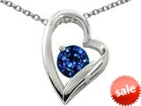 Original Star K™ 7mm Round Created Sapphire Heart Shape Pendant style: 27372