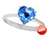 Tommaso Design™ Genuine Blue Topaz Heart Shape 8mm Solitaire Engagement Ring style: 27966