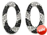 Noah Philippe ™Oval Shape Black and White Earrings style: 28047