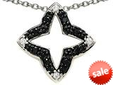 Star Shaped Black and White Pendant
