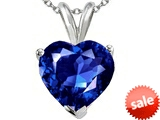 Tommaso Design™ 8mm Heart Created Sapphire Pendant style: 302175